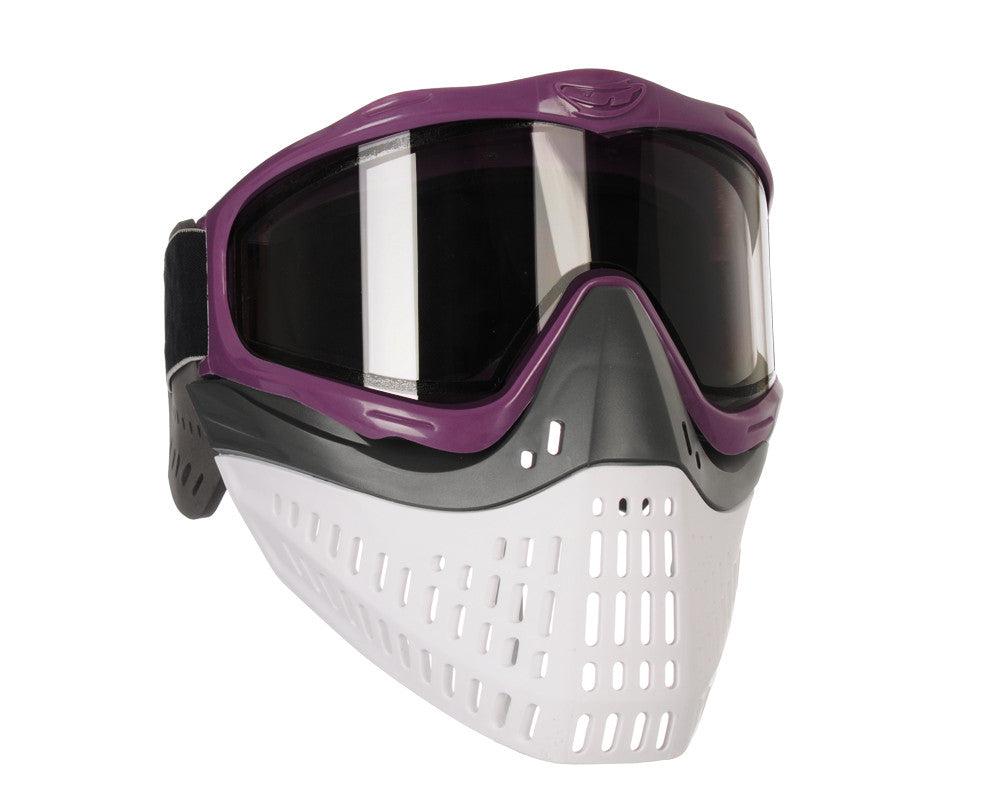 JT ProFlex Thermal Paintball Mask w/ Smoke Lens - Purple w/ Black/White Bottoms