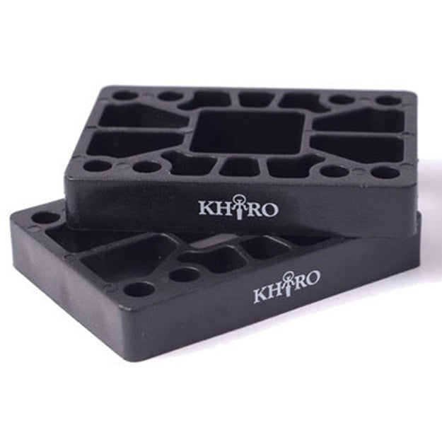 Khiro Hard - Black - 1/2in - Skateboard Riser (2 PC)