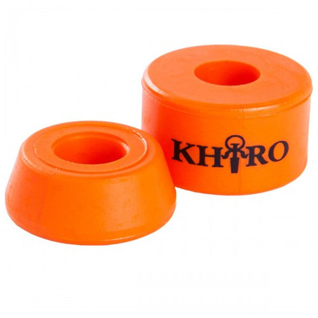 Khiro Barrel Bushing Without Washers - Orange - 79a - Skateboard Bushings (2 PC)