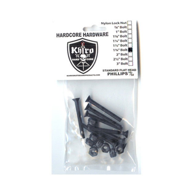 Khiro Hardcore Bolts Trusshead - 1 3/4in - Skateboard Mounting Hardware