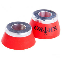 Khiro Insert Bushings Medium Soft - 90a - Red - Skateboard Bushings (2 PC)