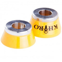 Khiro Insert Bushings Medium Hard - 92a - Yellow - Skateboard Bushings (2 PC)