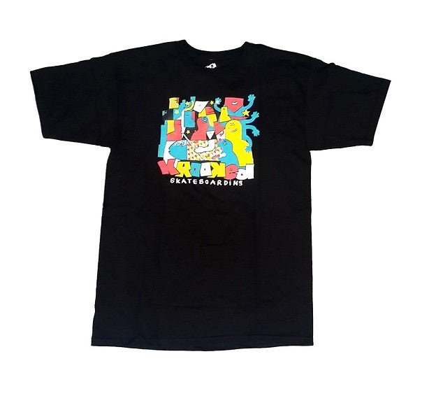 Krooked Kluster S/S - Black - Men's T-Shirt