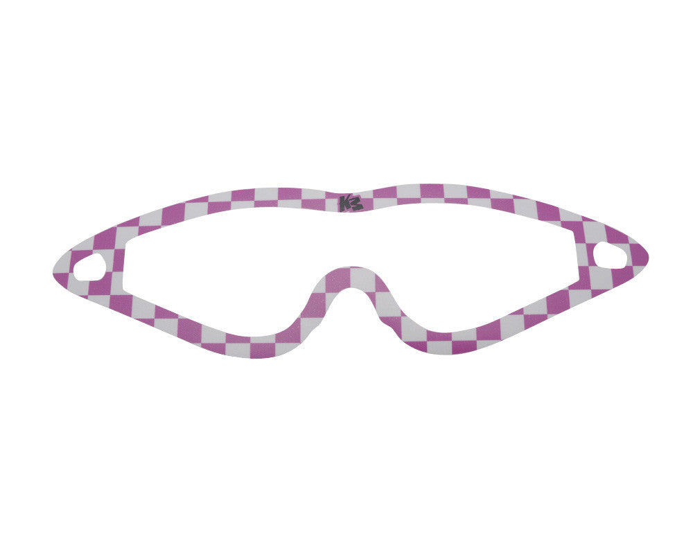 KM Paintball Mask Wraps - Event Lens - Pink Checkers
