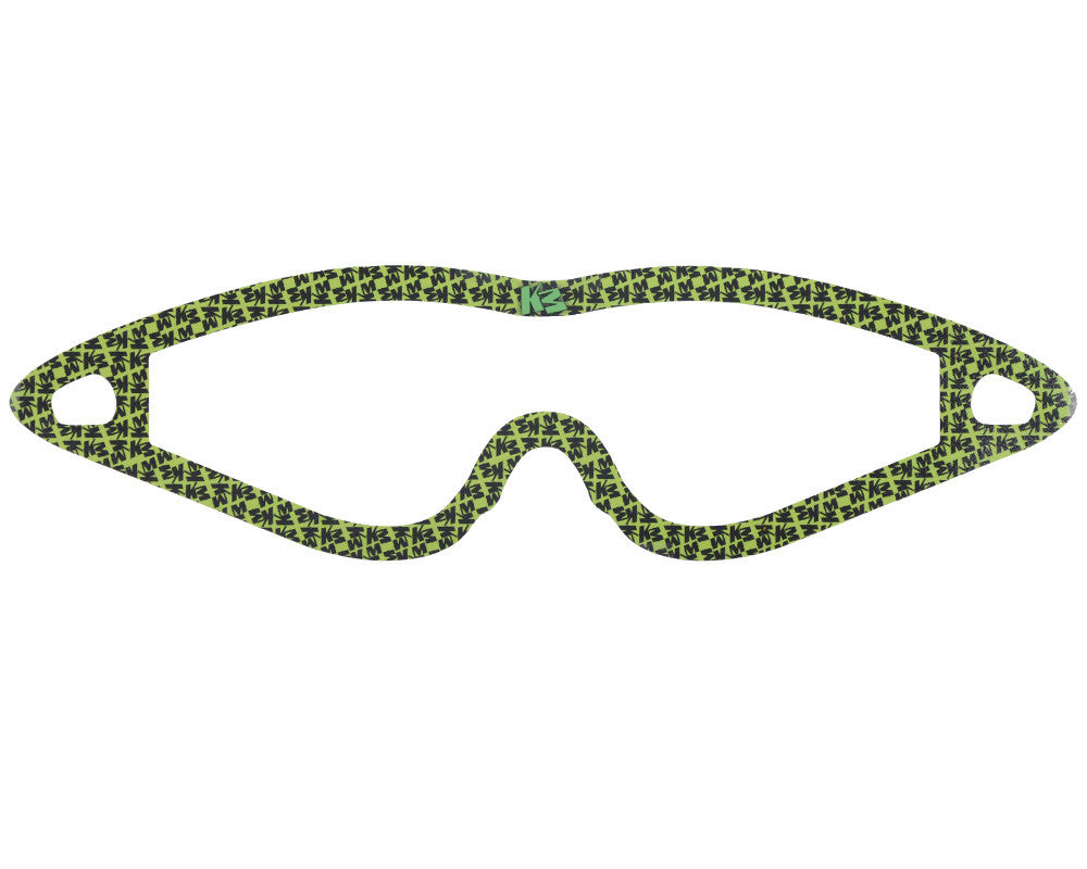 KM Paintball Mask Wraps - Event Lens - All Over Lime