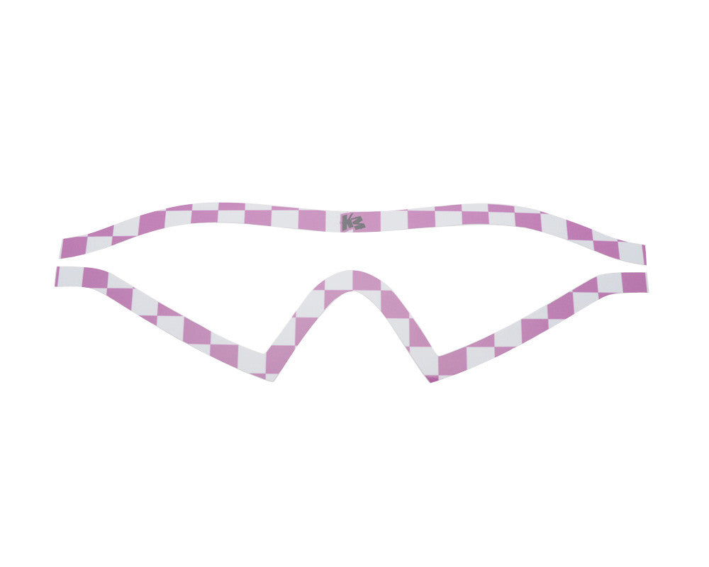 KM Paintball Mask Wraps - I4 Lens - Pink Checkers
