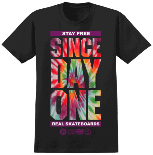 Real Since Day One S/S - Tie Dye/Black - Men's T-Shirt