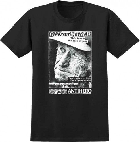 Anti-Hero Old & Tired S/S - Black - Men's T-Shirt