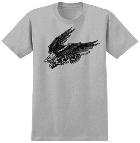 Anti-Hero Eagle Doll S/S - Athletic Grey/Black - Men's T-Shirt