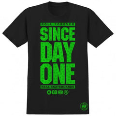 Real Since Day One Huf Edition S/S - Black - Men's T-Shirt