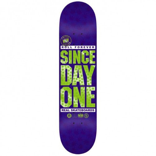 Real Since Day One Huff Edition - Purple - 8.18 x 31.84 - Skateboard Deck