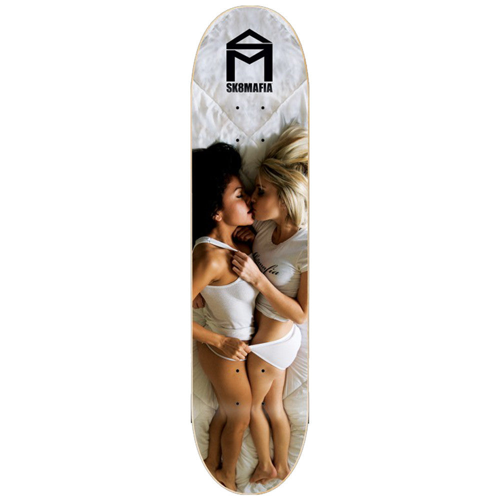Sk8Mafia Love - White - 8.0 x 32.0 - Skateboard Deck