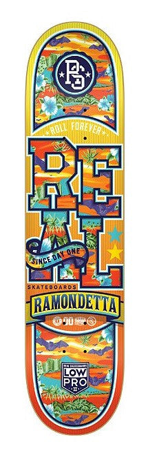 Real Ramondetta Low Pro 2 Spring Break - Orange/Multi - 7.81in - Skateboard Deck