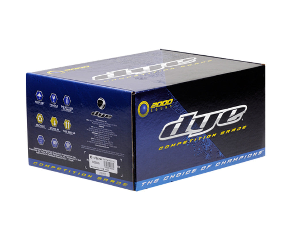 Dye CG Paintballs Case 1000 Rounds - Yellow Fill