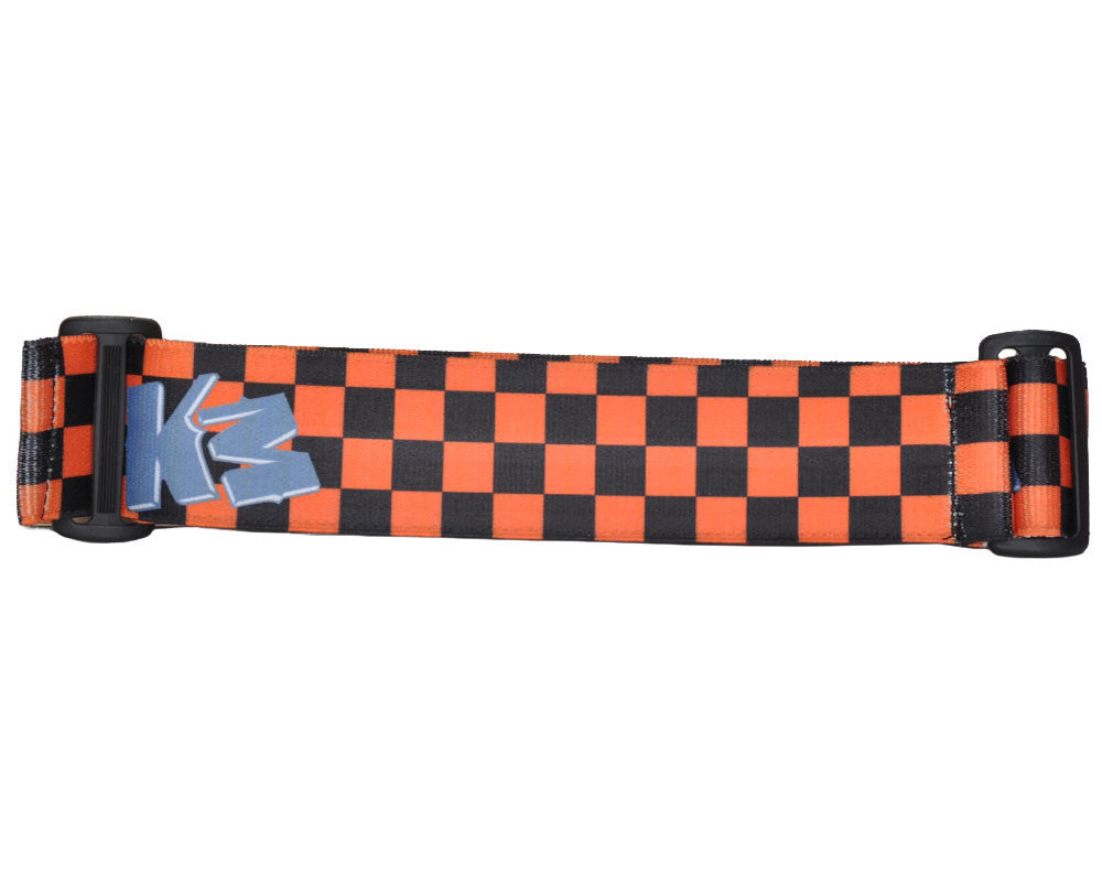 KM Paintball Goggle Strap - Checkered Black/Orange