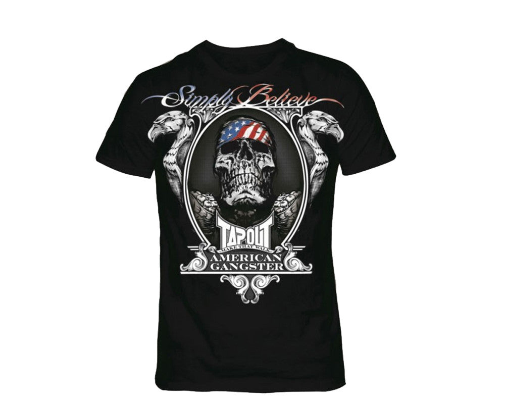 Tapout T-Shirt Chael Sonnen American Gangster - Black