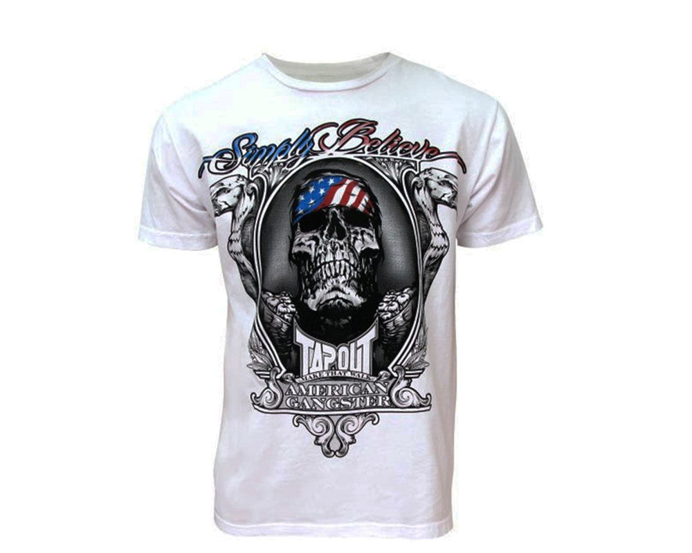 Tapout T-Shirt Chael Sonnen American Gangster - White