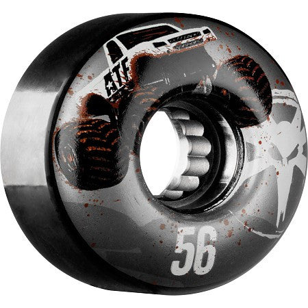 Bones ATF Mudder Fudder - Black - 56mm 60b - Skateboard Wheels (Set of 4)