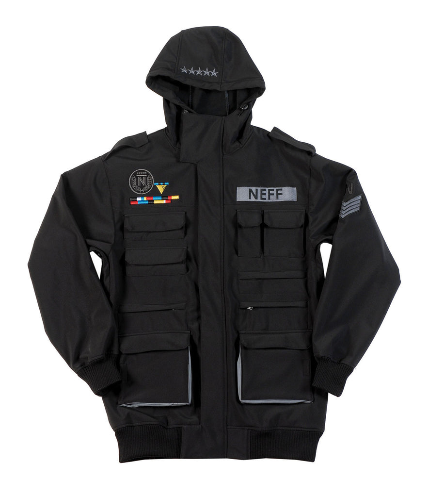 Neff Sarge Soft Shell - Black - Snowboarding Jacket - XX Large