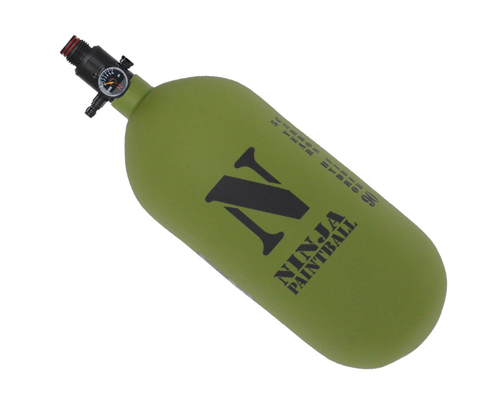 Ninja Dura Carbon Fiber Air Tank w/ Adjustable Regulator - 90/4500 - Olive Drab