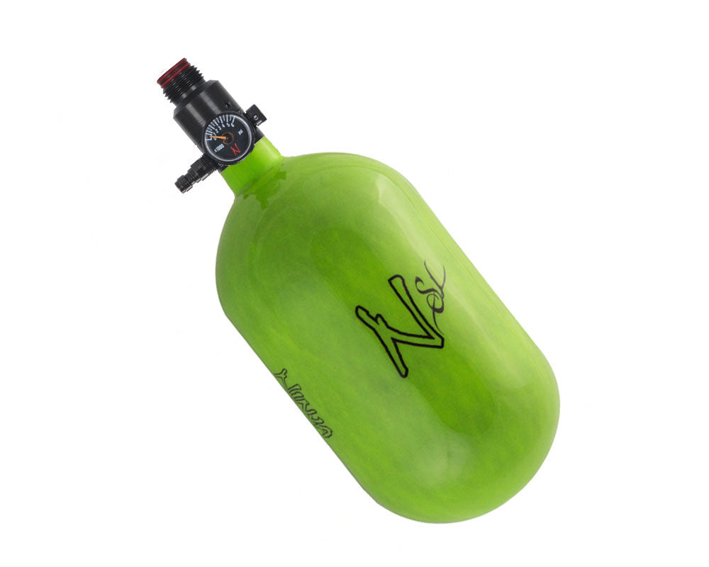 Ninja SL Carbon Fiber Air Tank w/ Adjustable Regulator - 68/4500 - Lime