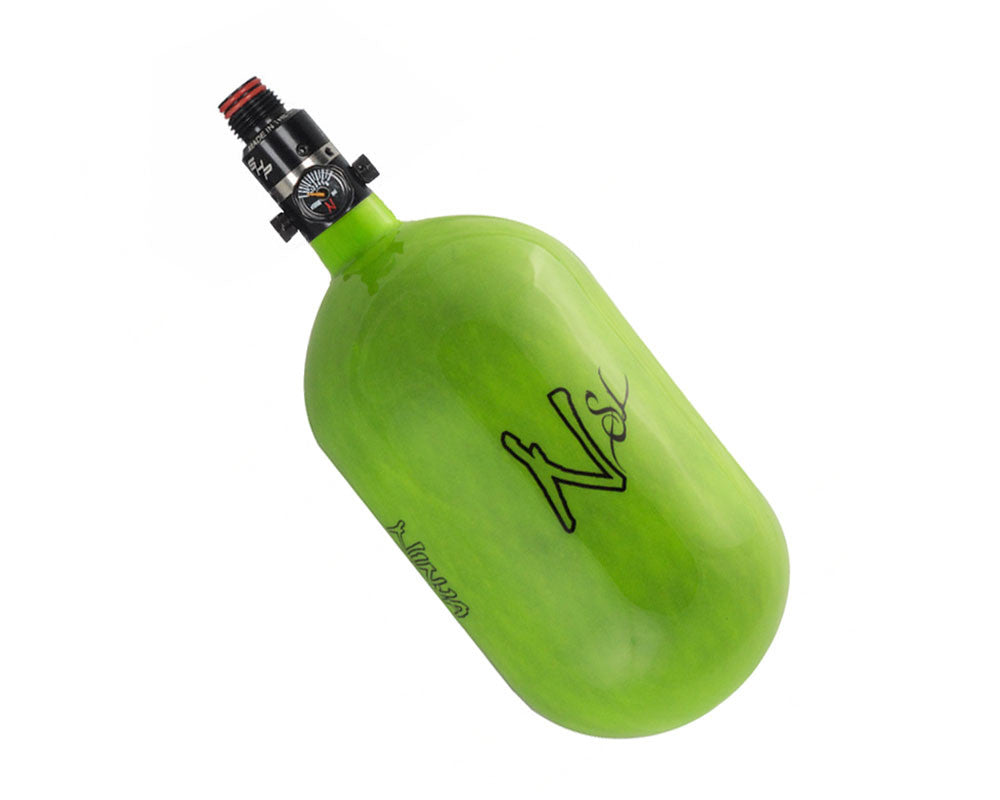 Ninja SL Carbon Fiber Air Tank w/ PRO V2 SHP Regulator - 68/4500 - Lime