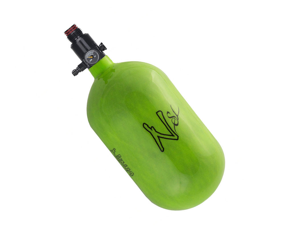 Ninja SL Carbon Fiber Air Tank w/ Ultralite Regulator - 68/4500 - Lime