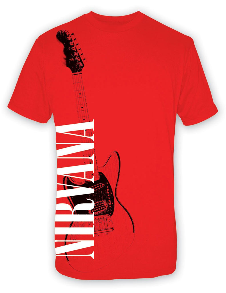 Nirvana Band Red Guitar - Red - Band T-Shirt