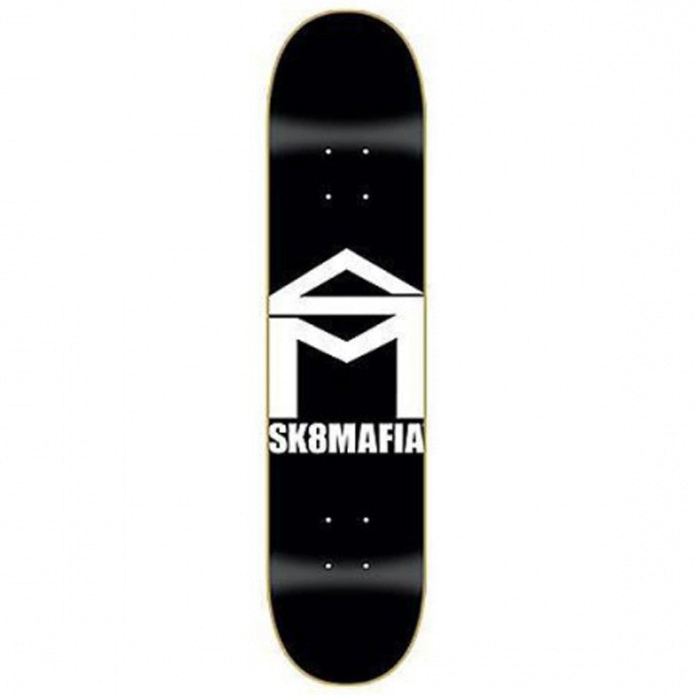 Sk8Mafia Team OG House Logo - Black/White - 8.0 x 32.0 - Skateboard Deck
