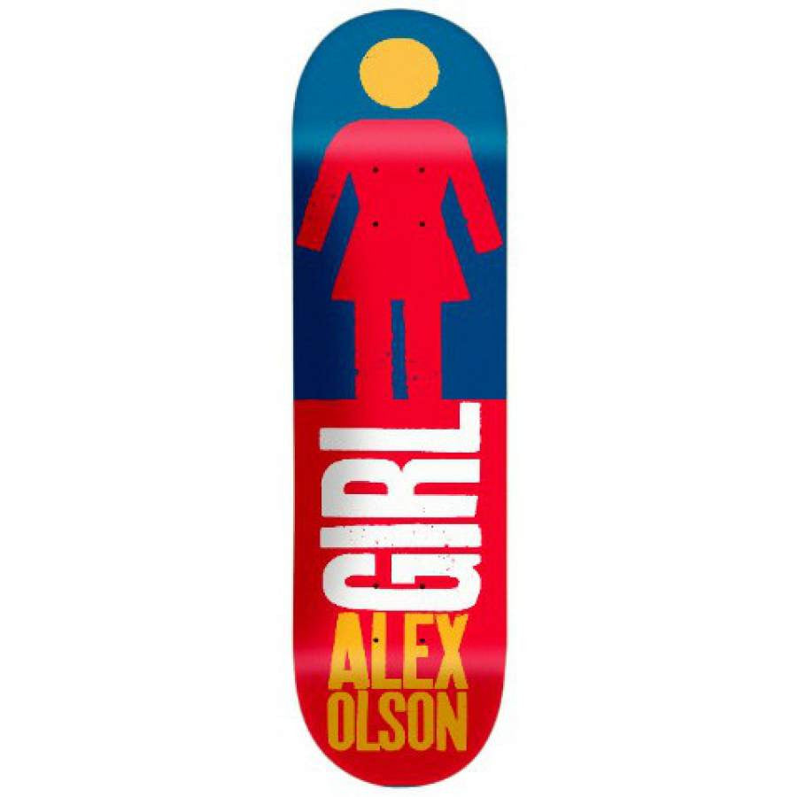 Girl Olson Real Big - Red/Blue - 8.375 - Skateboard Deck