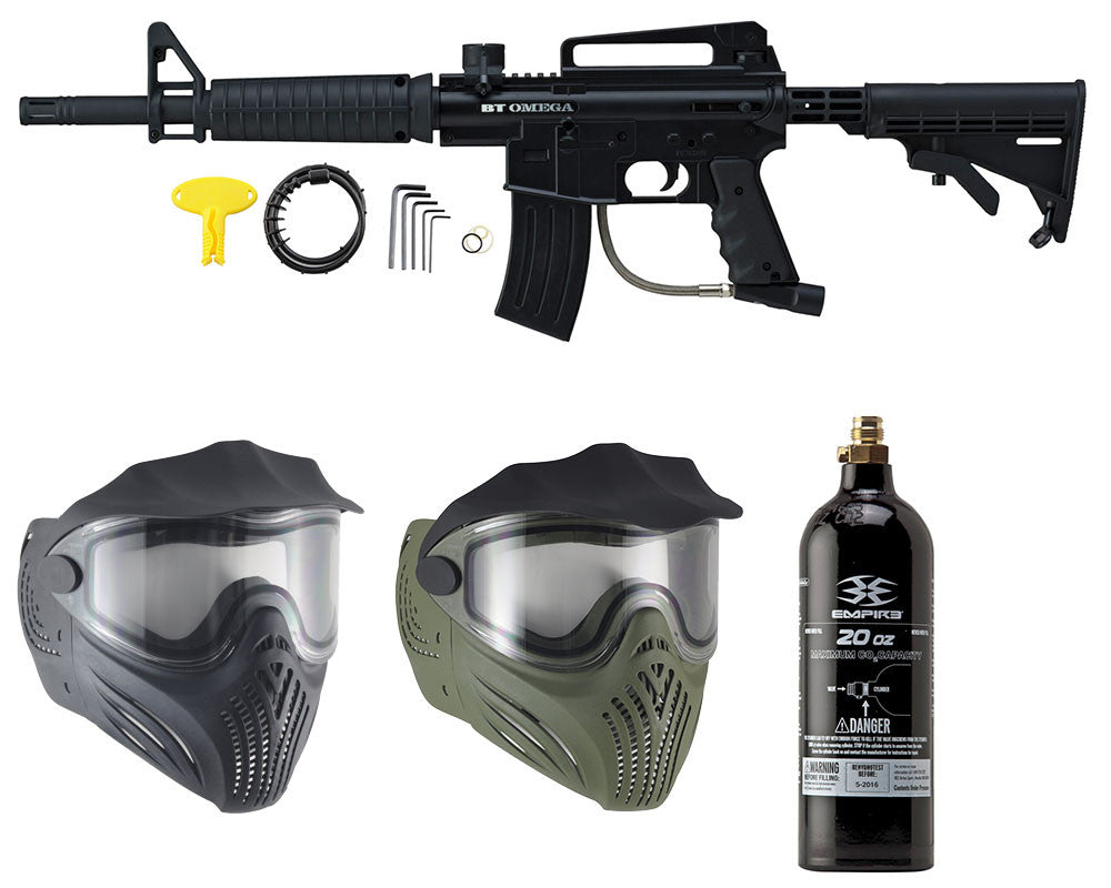 Empire Battle Tested Omega & Thermal Helix Mask w/ Free 20 Oz CO2 Tank