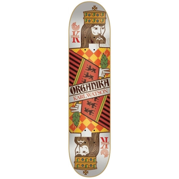 Organika Watson Suits - White/Orange - 7.9 - Skateboard Deck