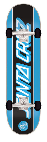 Santa Cruz Opus Strip Sk8 Powerply - Black/Blue - 7.8in x 31.7in - Complete Skateboard