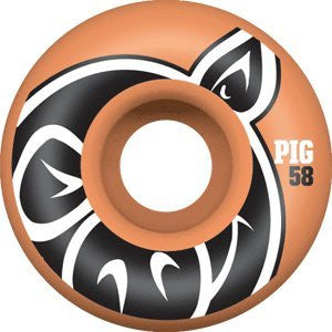 Pig Pighead Fall 09 - Orange - 58mm - Skateboard Wheels (Set of 4)