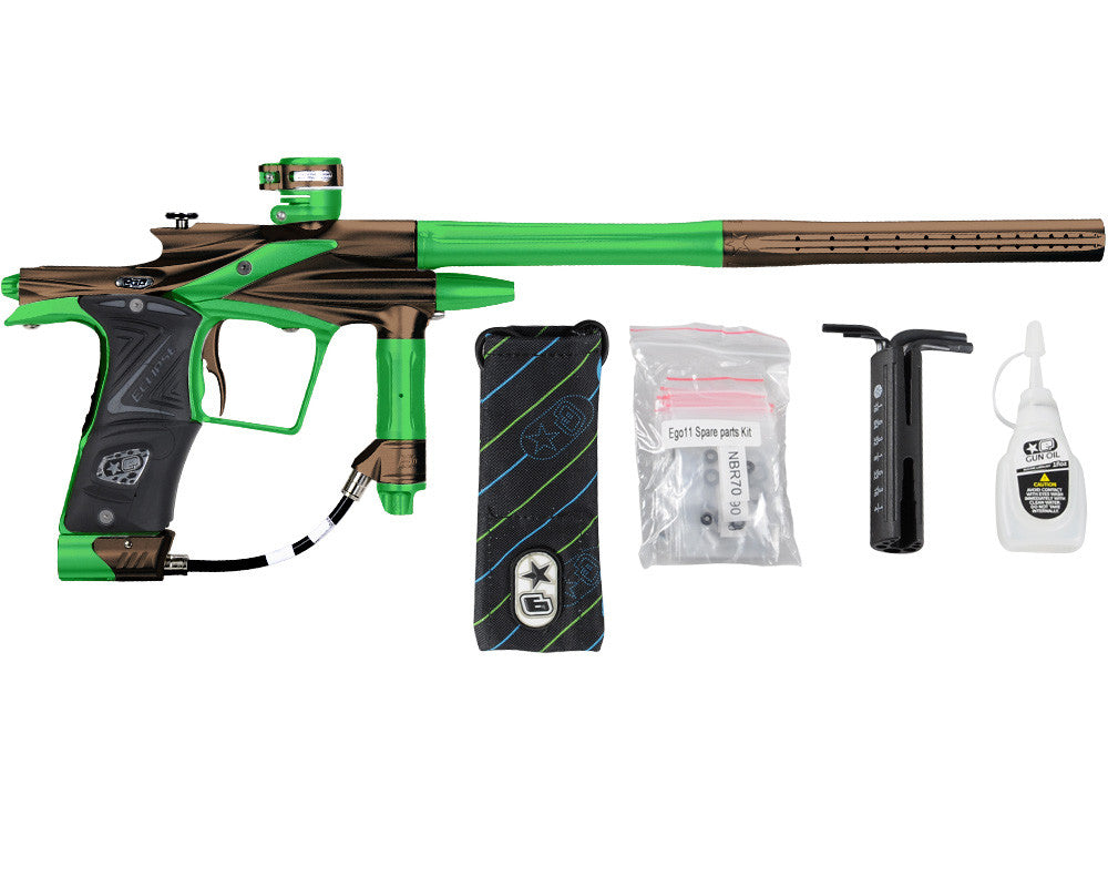 Planet Eclipse 2011 Ego Paintball Gun - Brown/Lime
