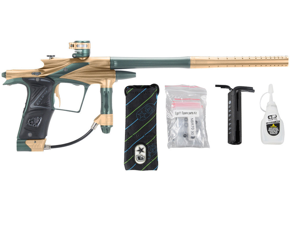 Planet Eclipse 2011 Ego Paintball Gun - Gold/Forest Green