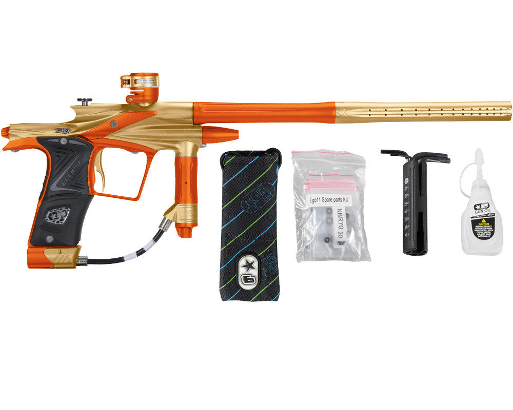 Planet Eclipse 2011 Ego Paintball Gun - Gold/Sunburst Orange