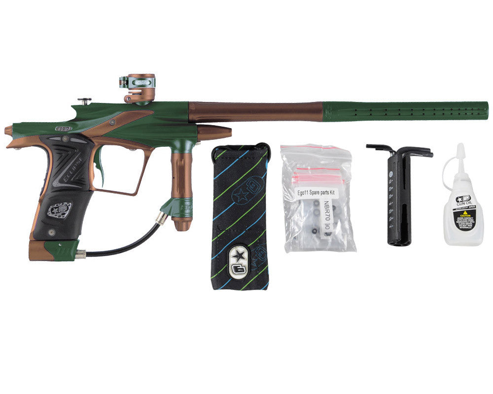 Planet Eclipse 2011 Ego Paintball Gun - Green/Brown