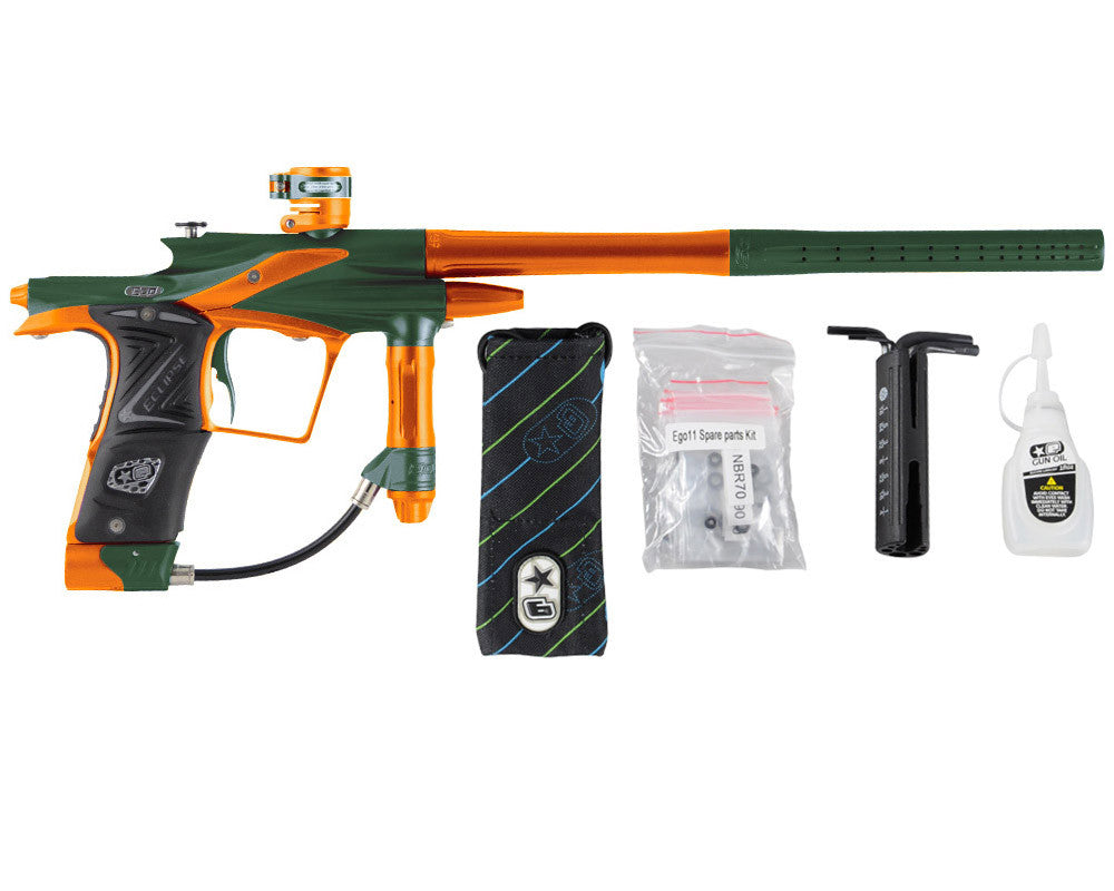 Planet Eclipse 2011 Ego Paintball Gun - Green/Sunburst Orange