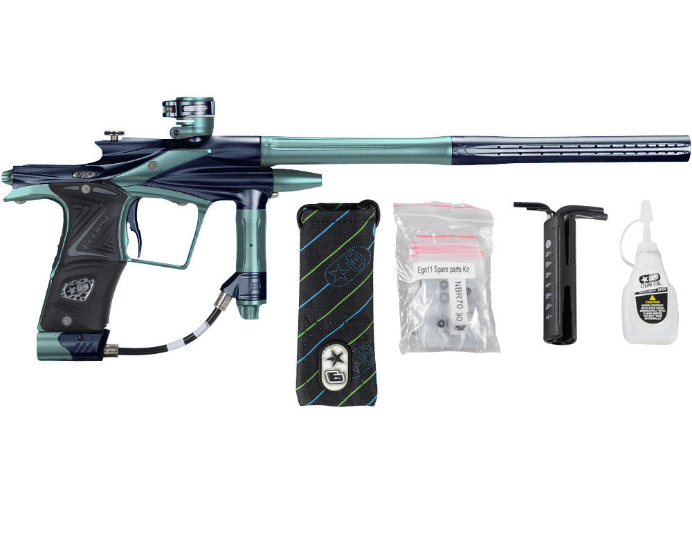 Planet Eclipse 2011 Ego Paintball Gun - Navy Blue/Aqua