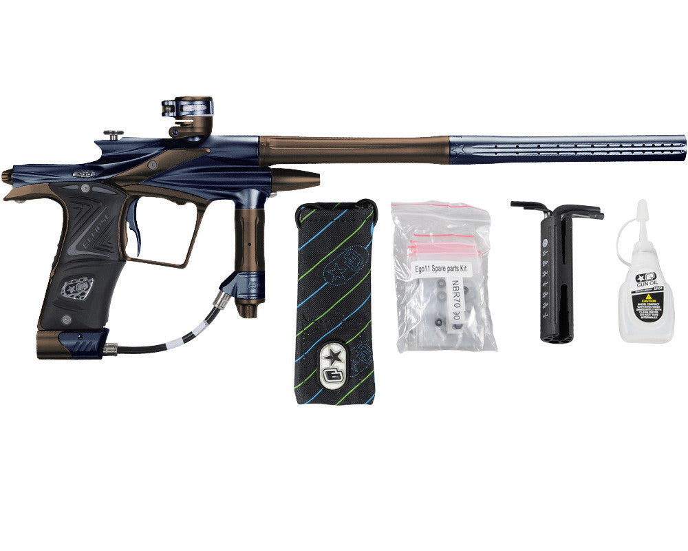 Planet Eclipse 2011 Ego Paintball Gun - Navy Blue/Brown