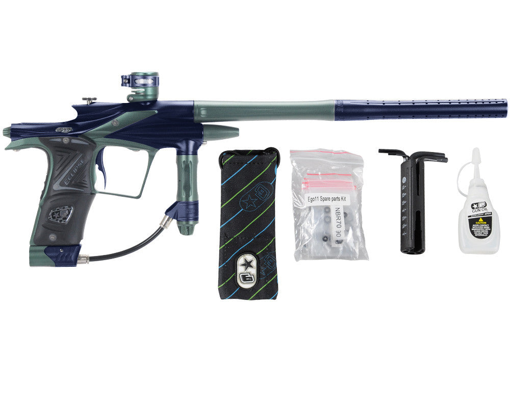 Planet Eclipse 2011 Ego Paintball Gun - Navy Blue/Forest Green