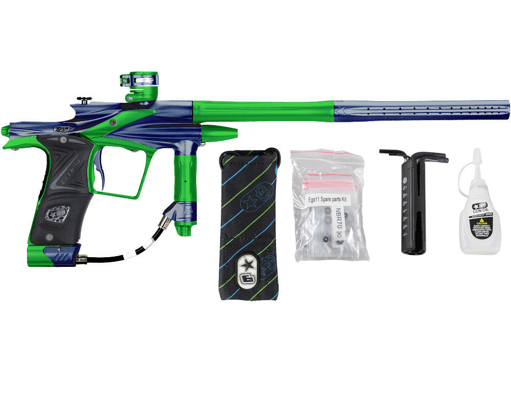 Planet Eclipse 2011 Ego Paintball Gun - Navy Blue/Lime