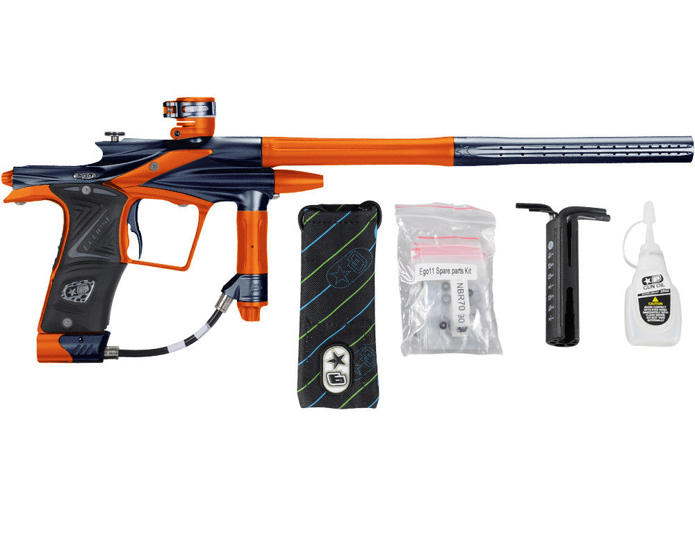Planet Eclipse 2011 Ego Paintball Gun - Navy Blue/Sunburst Orange
