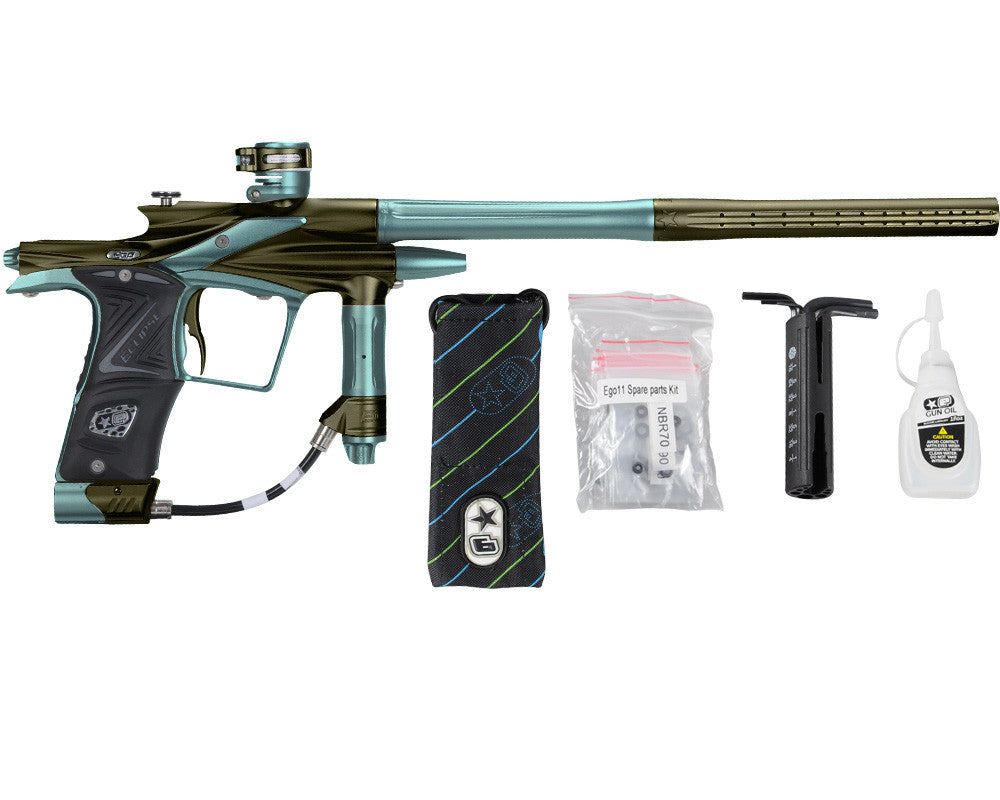 Planet Eclipse 2011 Ego Paintball Gun - Olive/Aqua