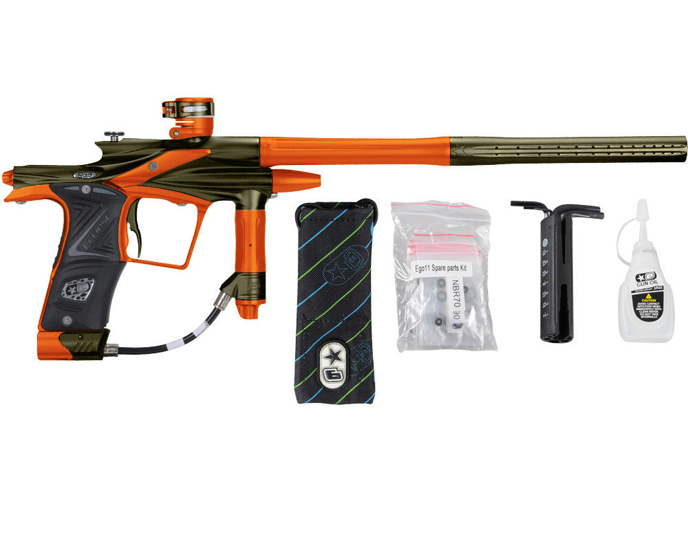 Planet Eclipse 2011 Ego Paintball Gun - Olive/Sunburst Orange