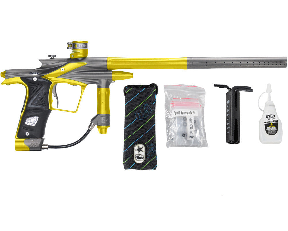 Planet Eclipse 2011 Ego Paintball Gun - Pewter/Dust Yellow