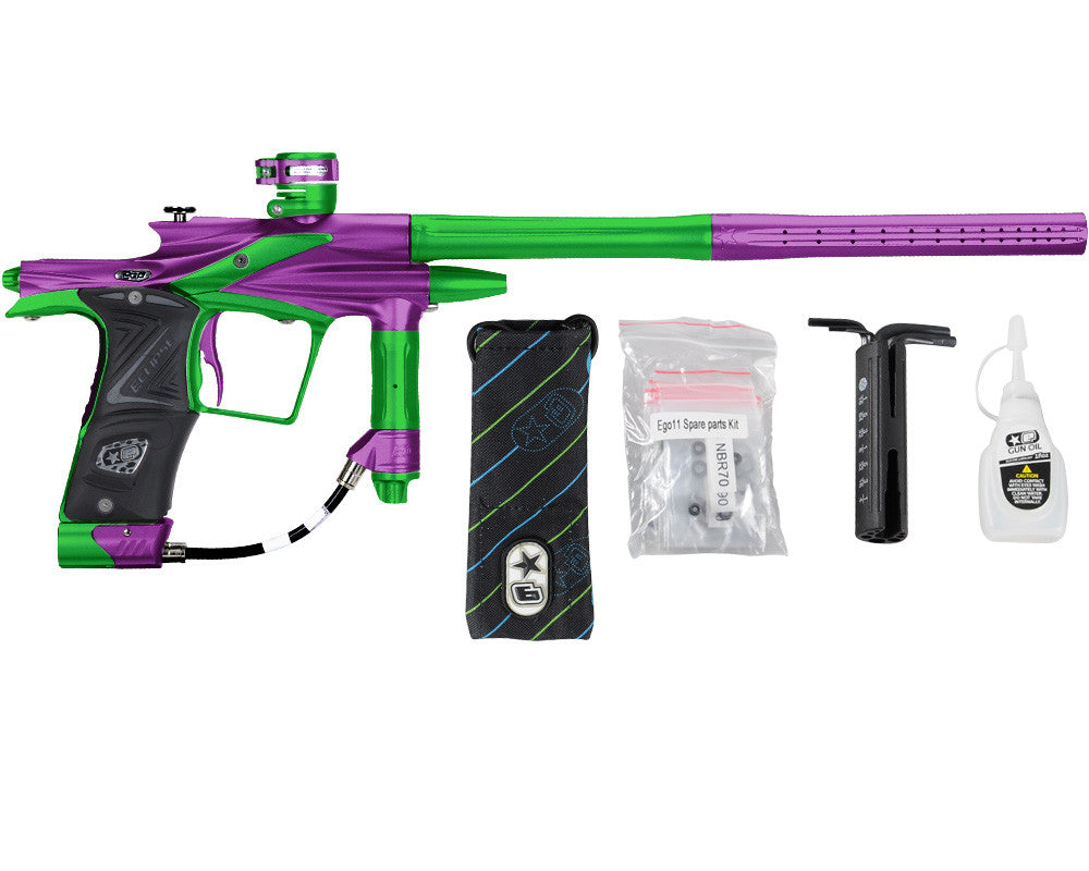 Planet Eclipse 2011 Ego Paintball Gun - Purple/Lime