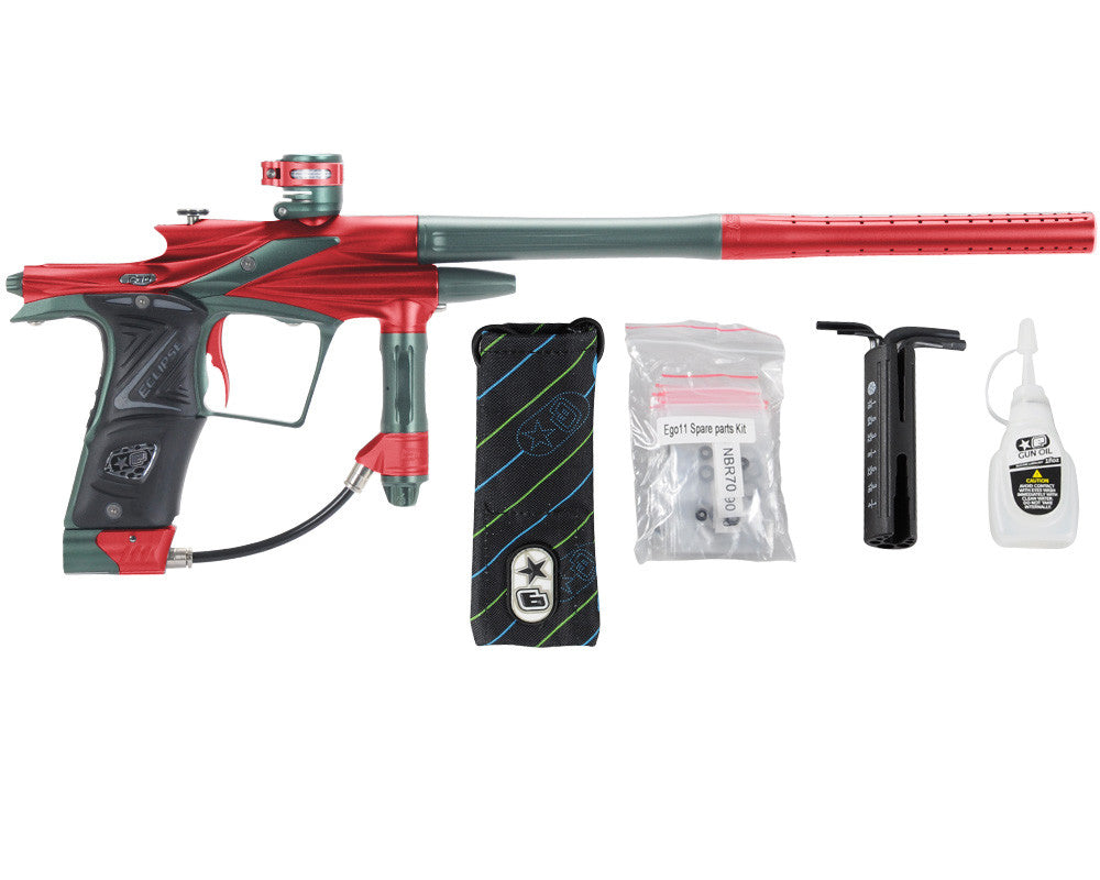 Planet Eclipse 2011 Ego Paintball Gun - Red/Forest Green