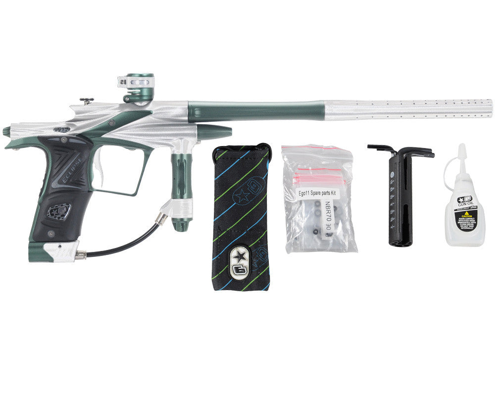 Planet Eclipse 2011 Ego Paintball Gun - Silver/Forest Green